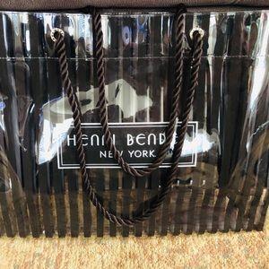 Henri Bendel Clear Centennial Brown Stripes Tote